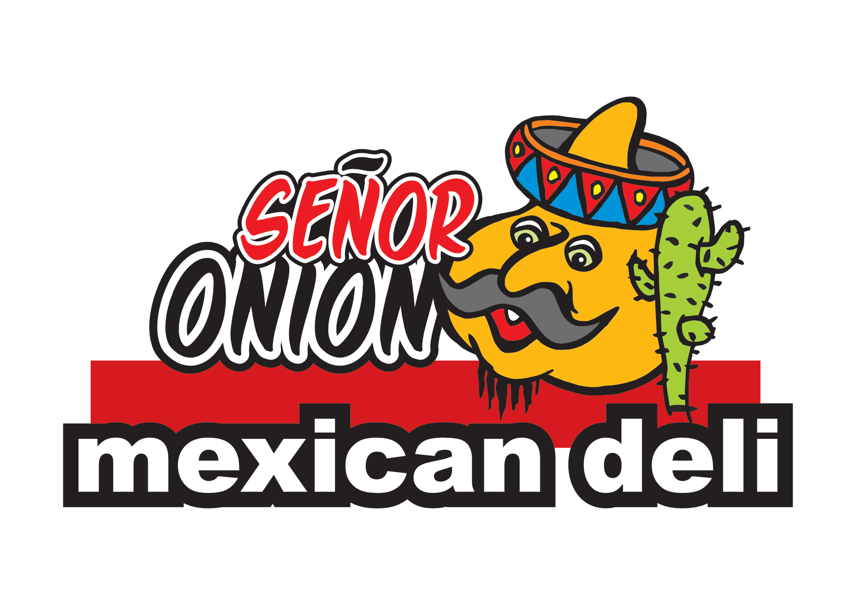 Logo for Senõr Onion Mexican Deli.